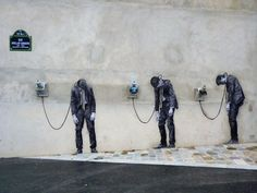 STREET ART UTOPIA » We declare the world as our canvas » Street Art by Levalet in Paris, France 85679546