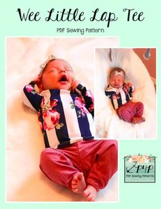 Free Wee Lap Tee – Patterns for Pirates – Sewing Projects Pdf Sewing Patterns, Free Sewing, Baby Patterns, Baby Sewing Projects, Sewing Projects For Beginners, Sewing Hacks, Newborn Sleeper, Patterns For Pirates, Little Babies