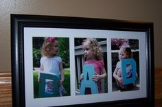 DAD picture frame holding letters  great for when have 3 kids too...??