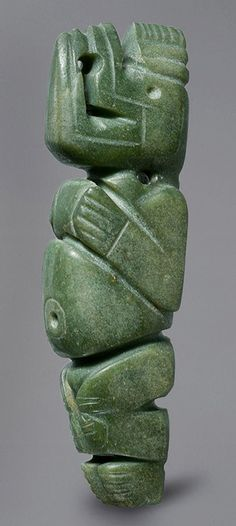 Masked Figure Pendant,4th–8th century Costa Rica; Atlantic Watershed Jade