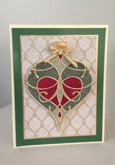 Christmas card with Glitter Ritz, Memory Box die and Spellbinders Nestabilities Card Creator