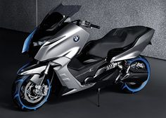 I realize that my Kymco Yager in addition to having a dumb name is not  the best looking thing on the road but come on BMW this looks like a cheap toy Tron prop.     BMW Concept C Motor Scooter