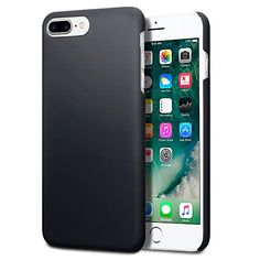 iPhone 7 Plus Case  Terrapin iPhone 7 Plus Cover  Ultra Slim Fit Hybrid  Hard Case Protection  Rubberized Finish  Black ** To view further for this item, visit the image link.