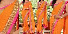 Orange saree... Just love it