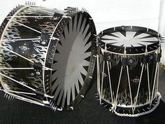 custom drums & percussion | Custom-Marching-Bass-Snare-Drum-Slingerland-Pearl-Rope-Tension-Field ...