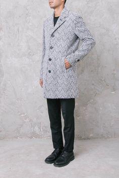 GERALDO Cappotto di lana grigio
