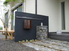 玄関 エントランス Front Gates, Front Fence, Office Furniture Design, Office Interior Design, Japanese Restaurant Interior, Door Name Plates, Modern Mailbox, Gate Post, Compound Wall