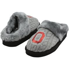 Ohio State Buckeyes Ladies Slipper - Gray