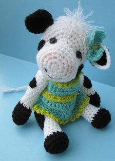 Cute Cow Crochet Pattern by Crews | Crocheting Pattern - Looking for your next project? You're going to love Cute Cow Crochet Pattern by designer Crews. - via @Craftsy