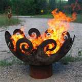Fire,This site has neat glass art for the garden