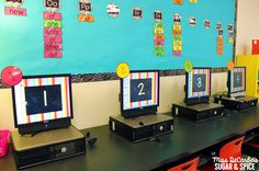 5 Teacher Tips for Technology Organization by Miss DeCarbo - Number or Label your computers to make it easy for students to identify which computer they are to work on.