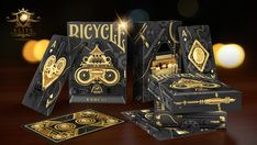 Evolve Bicycle® Playing Cards Deck by Elite Magic — Kickstarter Deck Of Cards, Your Cards, Bicycle Deck, Weeks In A Year, Golden Design, Bicycle Playing Cards, Cartomancy, Card Companies, Hand Illustration