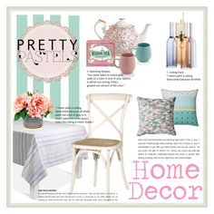 """""""Pretty Pastels Decor"""" by nonamanis143 ❤ liked on Polyvore featuring interior, interiors, interior design, home, home decor, interior decorating, Zuo, Royal Albert, Kusmi Tea and Sabichi"""