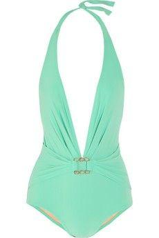 mint bathing suit