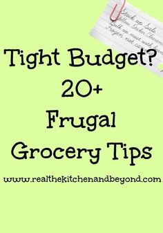 Frugal Meals, Frugal Food Tips | Real: The Kitchen and Beyond cheap recipes quick recipes #recipe #frugal