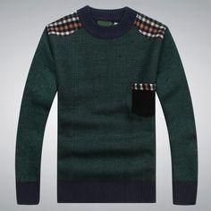 2014 novos outono e inverno dos homens suéter de lã Blended Casual grosso quente malhas o pescoço capuz postou roupas bolso em Pulôvers de Roupas e Acessórios Masculinos no AliExpress.com | Alibaba Group