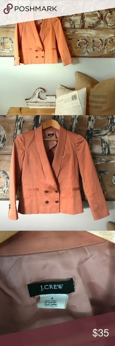 J. Crew double breasted sateen blazer Excellent quality and condition J. Crew Jackets & Coats Blazers