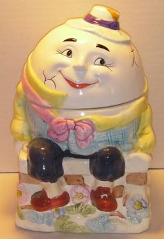 Humpty Dumpty Cookie Jar by KoolCookieJarsNMore on Etsy