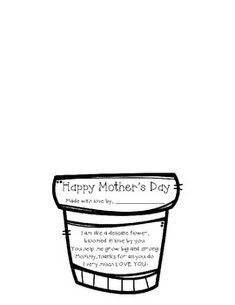 I created this adorable goodie for my kiddos to use in creating a surprise Mother's Day gift for their Mom!! There is a flower pot, with a cute Mother's Day poem...you will simply have them created a handprint of each hand (with paint or simply tracing), add a stem and leaves, color the pot, and wa... Mothers Day Poems, Mother Poems, Mothers Day Crafts For Kids, Fathers Day Crafts, Mother Day Gifts, Happy Mothers, Diy For Kids, Diy Mother's Day Crafts, Mother's Day Diy