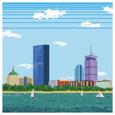 Artist Turns Boston Skyline into 8-bit Nintendo Scene
