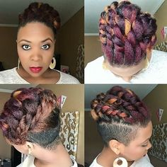 The colours the #naturalhair style...EVERYTHING Burgundy Natural Hair, Natural Hair Types, Natural Hair Inspiration, Curls, Curly Hair Styles, Hair Cuts, Dreadlocks, Colours, Hairstyles