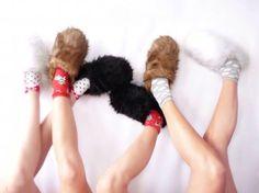 Pantuflas para adolescentes bien calentitas!