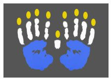 Handprint Menorrah Craft for Hanukkah #kindergarten