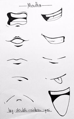 Typical of anime mouths sketch mouth, mouth drawing, human drawing, bod Anime Mouth Drawing, Drawing Cartoon Faces, How To Draw Anime Eyes, Art Drawings Sketches Simple, Cartoon Art Styles, Pencil Art Drawings, Human Drawing, Body Drawing Tutorial, Manga Drawing Tutorials