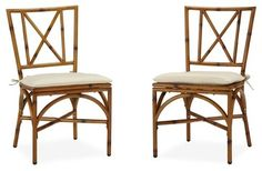 Patio Dining Chair - Set of 2 asian-outdoor-lounge-chairs