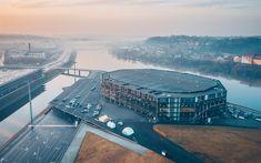 Lataa kuva Zalgiris-Areena, stadion, sports arena, Kaunas, Liettua, Neman joen, Baltia, Zalgirio Arena