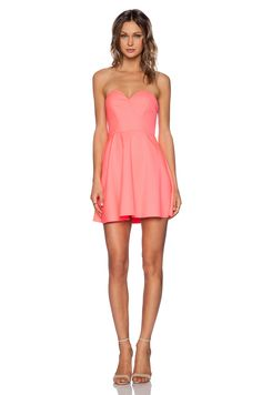 NBD x Naven Twins Disclosure Dress in Electric Peach | REVOLVE