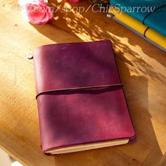 "Leather Travelers Notebook ""The Carie Harling"" on Etsy, $52.50"