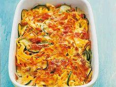 Gemüse-Nudel-Auflauf mit Kräuterkruste -