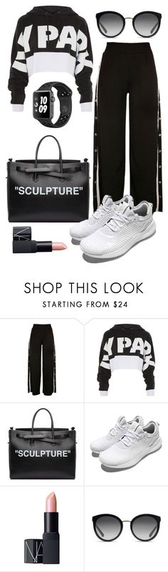 """""""go sporty 2"""" by ichaermayani on Polyvore featuring Topshop, Off-White, adidas, NARS Cosmetics, Dolce&Gabbana and polyvorefashion"""