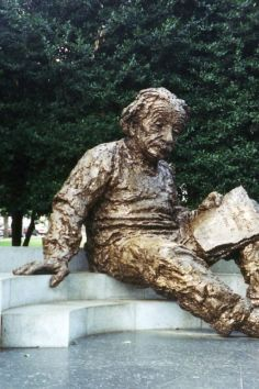 The Albert Einstein Memorial in Washington DC is on the SW corner of the Academy grounds.