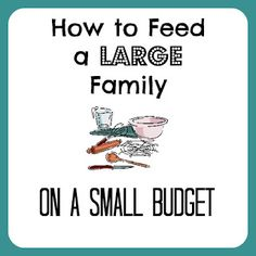 How to Feed a Large Family on a Small Budget - Mommy Has Cents
