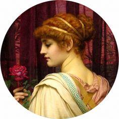 Chloris, a summer rose (1902) -John William Godward (1861-1922). Oil on canvas.