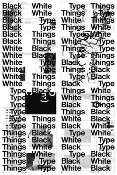 Black White Type Things Bernd Kuchenbeiser
