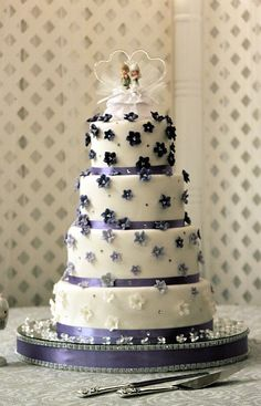 Lavender Wedding Cake by The Couture Cakery, via Flickr