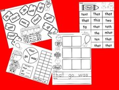 Huge Sight Word Freebie Pack (s) Teaching Sight Words, Sight Word Practice, Sight Word Games, Sight Word Activities, Classroom Activities, Reading Activities, Kindergarten Language Arts, Kindergarten Literacy, Literacy Games