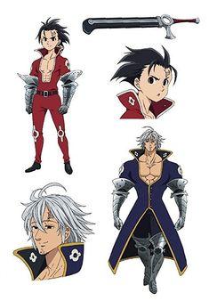 Estarossa and Zeldris Tatouage Seven Deadly Sins, Seven Deadly Sins Anime, 7 Deadly Sins, Otaku Anime, Anime Naruto, Anime Guys, Manga Anime, Character Concept, Character Art