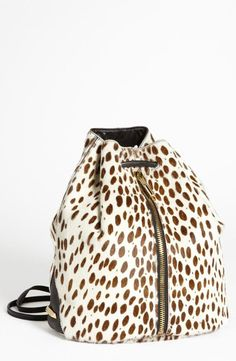 Nordstrom  Elizabeth and James Spotted Calf Hair Sling Backpack