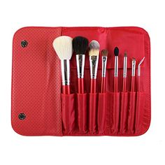 Morphe Brushes 700 8 Piece Candy Apple Red Brush Set is a collection of delicious, vibrant makeup brushes designed to deliver a flawless finish for the