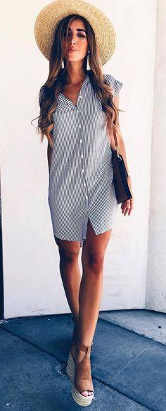 summer outfit hat + dress + sandals