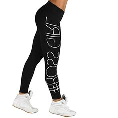 bdff76984ecb Minisoya Women s Letters Printed High Waist Sports Gym Yoga Pants Gym  Running Fitness Leggings Athletic Workout Trousers     Be sure to check out  this ...