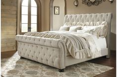 black upholstered sleigh bed. King Upholstered Sleigh Bed From Ashley | Coleman Furniture Black B