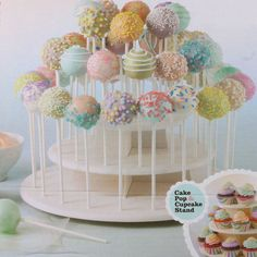3 Tier DIY Wedding Cupcake Rack Kitchen Round Plate Tool Cake Stand Birthday Lollipop Hole Accessories Party Dessert Display|Stands| - AliExpress Lollipop Display, Cupcake Display Stand, Cake Pop Displays, Cupcake Stand Wedding, Cake Pop Stands, Wedding Cupcakes, Display Stands, Party Wedding, Garden Wedding