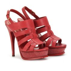 Sandalias rojas de plataforma