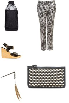 Lace, geometric patterns, studs & Woden wedges! Don't you feel ready to take on the world? <3