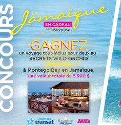 Concours La Vie en Rose: Gagnez un voyage tout-inclus pour 2 à Montego Bay en Jamaïque | TONSITE.CA